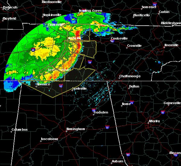 Radar Image for Severe Thunderstorms near Lawrenceburg, TN at 5/3/2020 5:03 PM CDT
