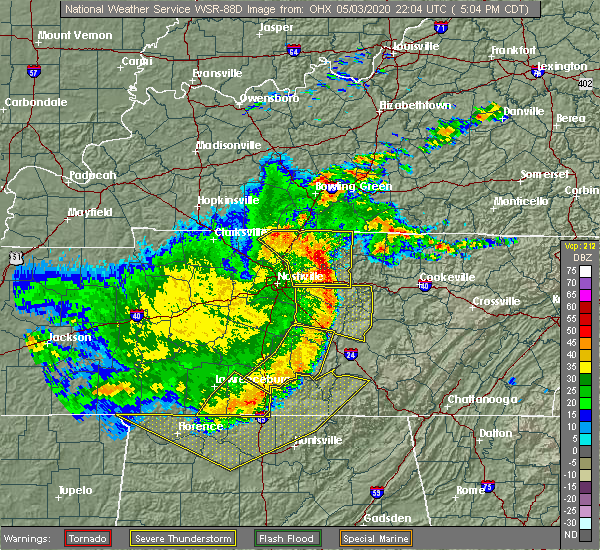Radar Image for Severe Thunderstorms near Walnut Grove, TN at 5/3/2020 5:06 PM CDT
