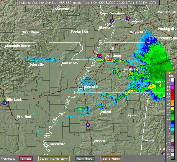 Radar Image for Severe Thunderstorms near Gadsden, TN at 5/3/2020 5:28 PM CDT