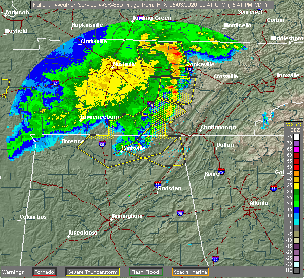 Radar Image for Severe Thunderstorms near Gurley, AL at 5/3/2020 5:44 PM CDT