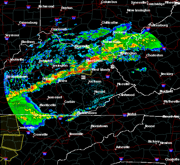 Radar Image for Severe Thunderstorms near Frenchburg, KY at 5/3/2020 6:45 PM EDT