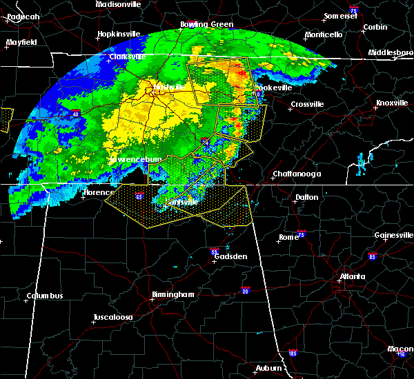 Radar Image for Severe Thunderstorms near Chattanooga, TN at 5/3/2020 5:47 PM CDT