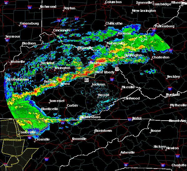 Radar Image for Severe Thunderstorms near Frenchburg, KY at 5/3/2020 6:55 PM EDT