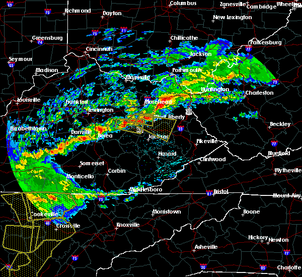 Radar Image for Severe Thunderstorms near Frenchburg, KY at 5/3/2020 6:58 PM EDT