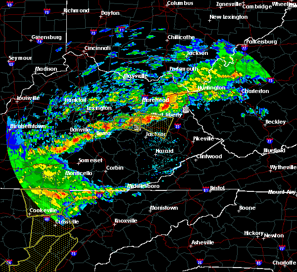 Radar Image for Severe Thunderstorms near Beattyville, KY at 5/3/2020 7:14 PM EDT