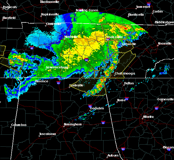 Radar Image for Severe Thunderstorms near Chattanooga, TN at 5/3/2020 6:16 PM CDT