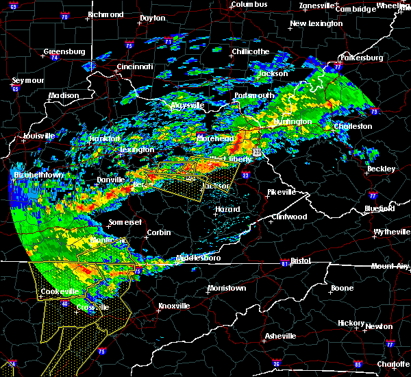 Radar Image for Severe Thunderstorms near Auxier, KY at 5/3/2020 7:17 PM EDT