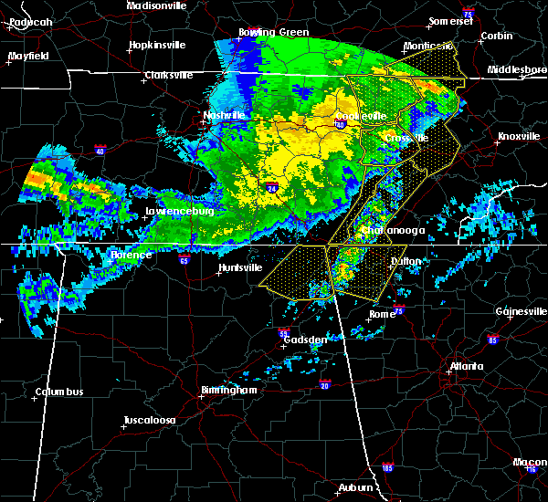 Radar Image for Severe Thunderstorms near Harrison, TN at 5/3/2020 7:29 PM EDT