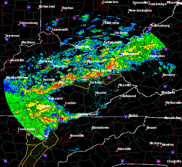 Radar Image for Severe Thunderstorms near Beattyville, KY at 5/3/2020 7:33 PM EDT