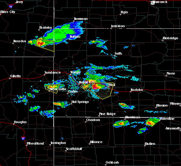 Radar Image for Severe Thunderstorms near Wall, SD at 5/3/2020 5:45 PM MDT