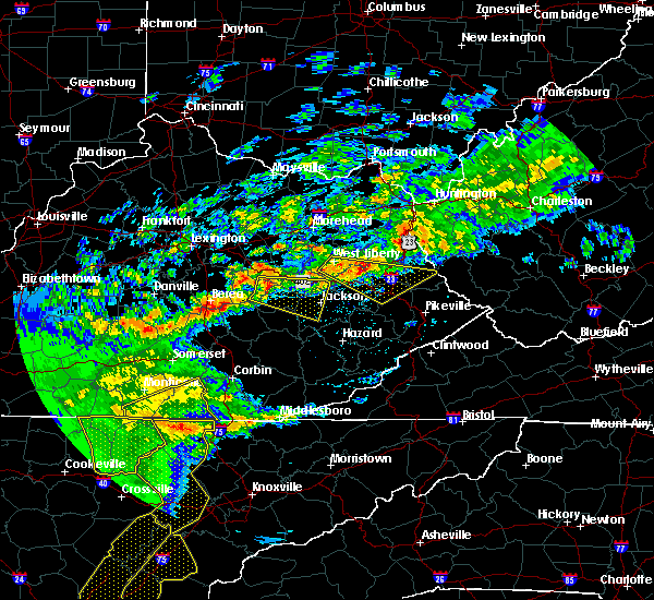 Radar Image for Severe Thunderstorms near Beattyville, KY at 5/3/2020 7:46 PM EDT