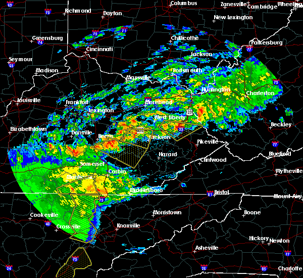 Radar Image for Severe Thunderstorms near Beattyville, KY at 5/3/2020 7:53 PM EDT