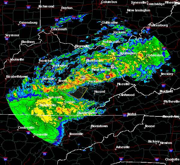 Radar Image for Severe Thunderstorms near McKee, KY at 5/3/2020 8:08 PM EDT