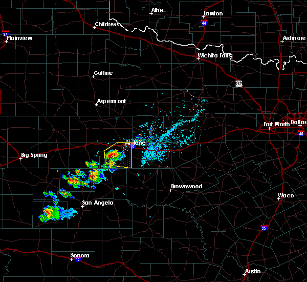 Radar Image for Severe Thunderstorms near Lawn, TX at 5/3/2020 7:19 PM CDT