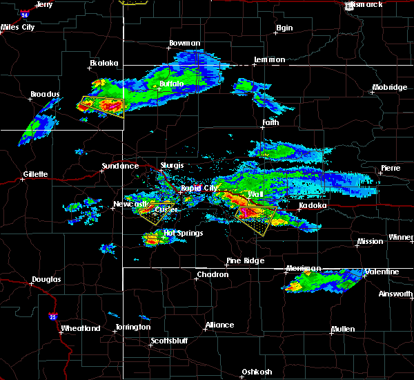 Radar Image for Severe Thunderstorms near Custer, SD at 5/3/2020 6:25 PM MDT