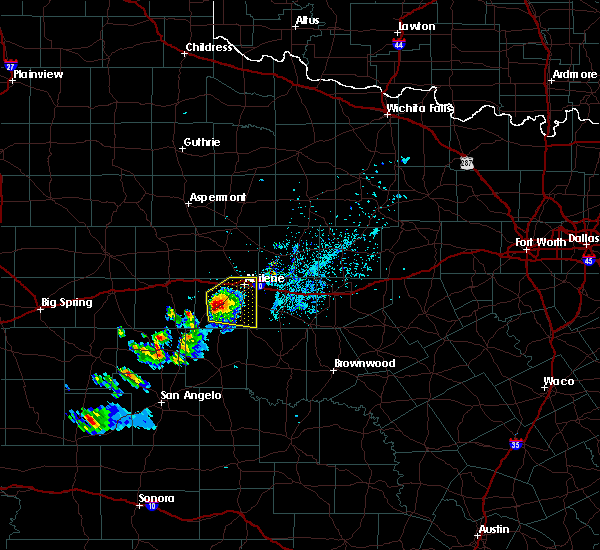 Radar Image for Severe Thunderstorms near Lawn, TX at 5/3/2020 7:43 PM CDT