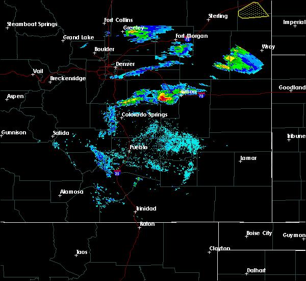 Radar Image for Severe Thunderstorms near Limon, CO at 5/3/2020 7:13 PM MDT