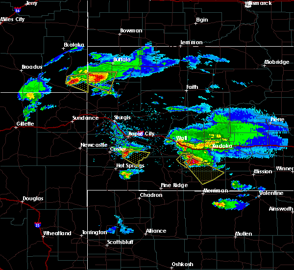Radar Image for Severe Thunderstorms near Fairburn, SD at 5/3/2020 7:16 PM MDT