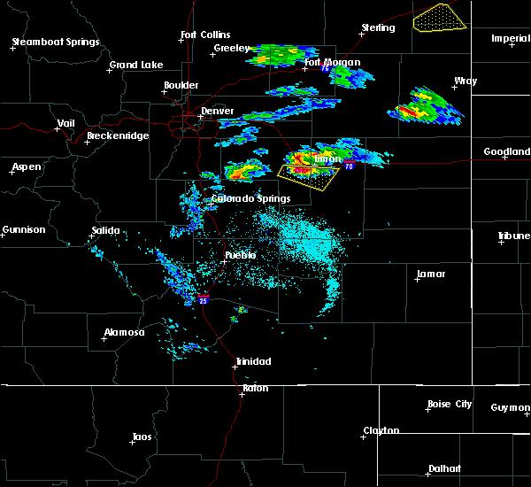 Radar Image for Severe Thunderstorms near Limon, CO at 5/3/2020 7:32 PM MDT