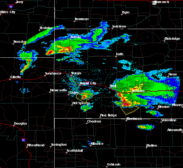 Radar Image for Severe Thunderstorms near Fairburn, SD at 5/3/2020 7:43 PM MDT