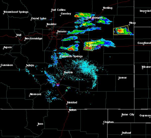 Radar Image for Severe Thunderstorms near Limon, CO at 5/3/2020 7:45 PM MDT
