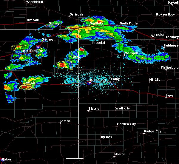 Radar Image for Severe Thunderstorms near Vernon, CO at 5/3/2020 7:50 PM MDT