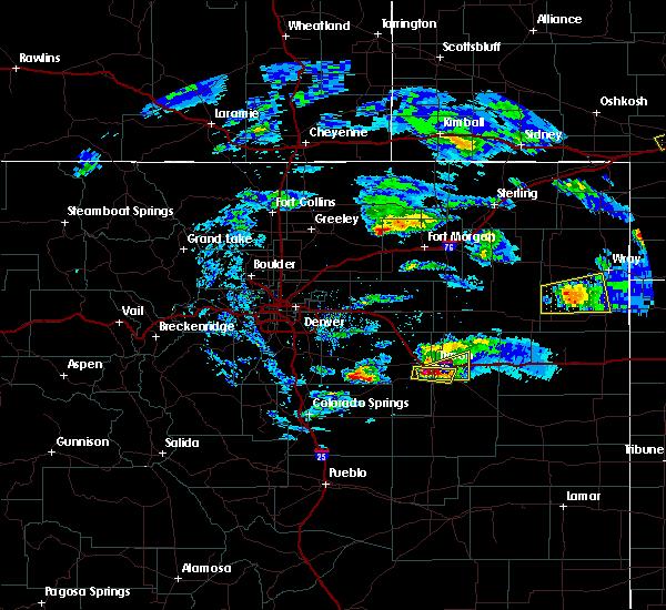 Radar Image for Severe Thunderstorms near Jackson Lake, CO at 5/3/2020 7:50 PM MDT