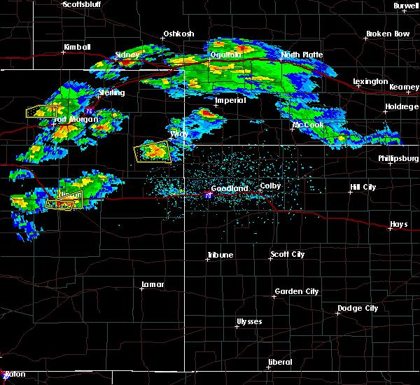 Radar Image for Severe Thunderstorms near Vernon, CO at 5/3/2020 8:03 PM MDT