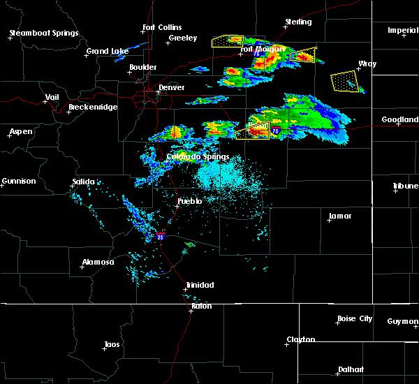 Radar Image for Severe Thunderstorms near Limon, CO at 5/3/2020 8:19 PM MDT