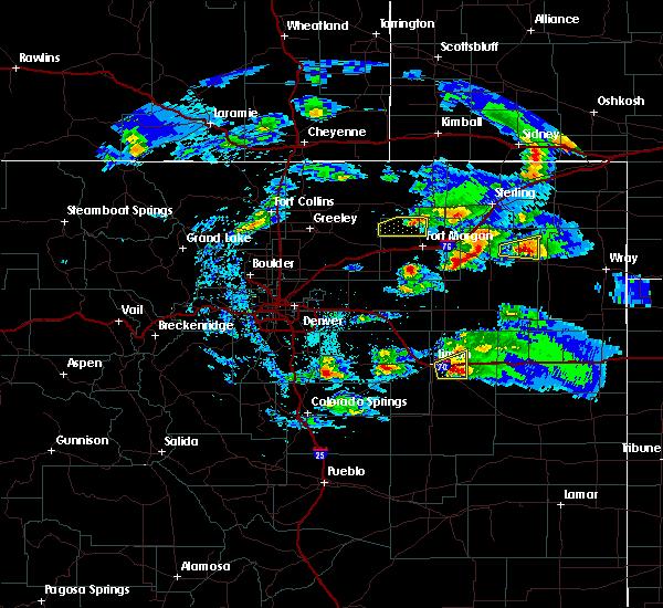 Radar Image for Severe Thunderstorms near Otis, CO at 5/3/2020 8:33 PM MDT