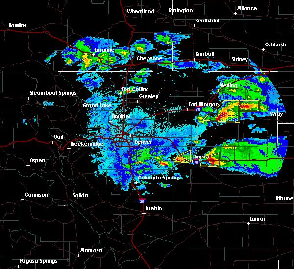 Radar Image for Severe Thunderstorms near Otis, CO at 5/3/2020 9:01 PM MDT
