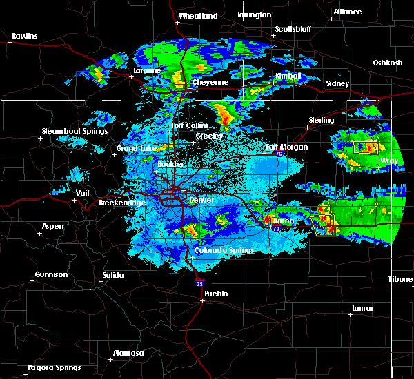 Radar Image for Severe Thunderstorms near Limon, CO at 5/3/2020 9:49 PM MDT