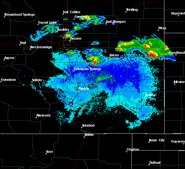 Radar Image for Severe Thunderstorms near Ramah, CO at 5/3/2020 10:40 PM MDT