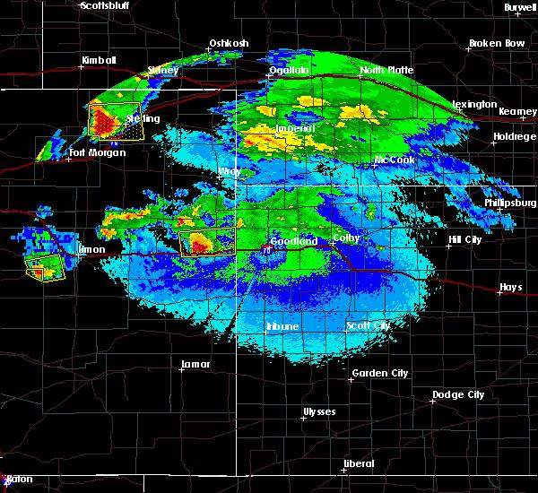 Radar Image for Severe Thunderstorms near Bethune, CO at 5/3/2020 10:46 PM MDT