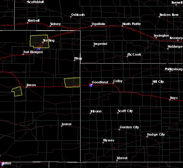 Radar Image for Severe Thunderstorms near Burlington, CO at 5/3/2020 11:01 PM MDT