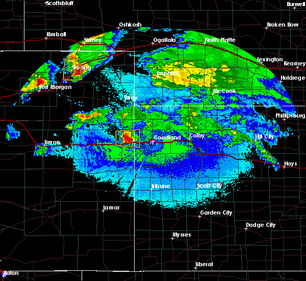Radar Image for Severe Thunderstorms near Burlington, CO at 5/3/2020 11:14 PM MDT