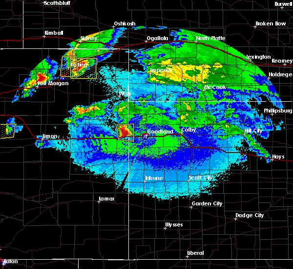 Radar Image for Severe Thunderstorms near Goodland, KS at 5/3/2020 11:20 PM MDT