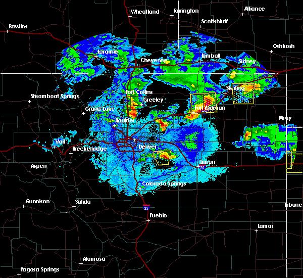 Radar Image for Severe Thunderstorms near Deer Trail, CO at 5/3/2020 11:45 PM MDT