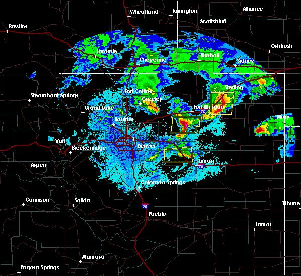 Radar Image for Severe Thunderstorms near Deer Trail, CO at 5/4/2020 12:09 AM MDT