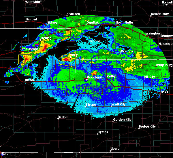 Radar Image for Severe Thunderstorms near Yuma, CO at 5/4/2020 12:38 AM MDT