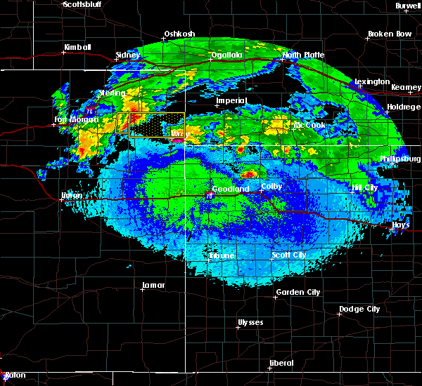 Radar Image for Severe Thunderstorms near Yuma, CO at 5/4/2020 12:55 AM MDT