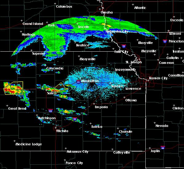 Radar Image for Severe Thunderstorms near Abilene, KS at 5/4/2020 6:31 AM CDT