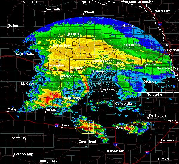 Radar Image for Severe Thunderstorms near Dorrance, KS at 5/4/2020 6:42 AM CDT
