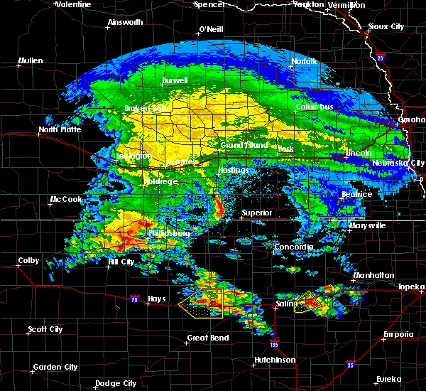 Radar Image for Severe Thunderstorms near Lincoln Center, KS at 5/4/2020 6:55 AM CDT
