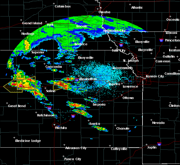 Radar Image for Severe Thunderstorms near Milford, KS at 5/4/2020 7:00 AM CDT
