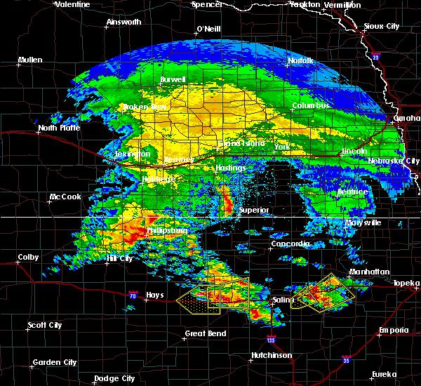 Radar Image for Severe Thunderstorms near Lincoln Center, KS at 5/4/2020 7:06 AM CDT
