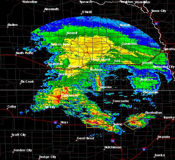 Radar Image for Severe Thunderstorms near Lincoln Center, KS at 5/4/2020 7:15 AM CDT