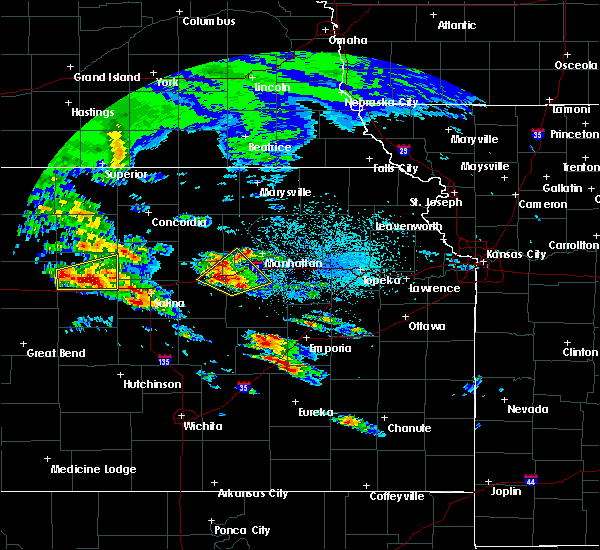 Radar Image for Severe Thunderstorms near Milford, KS at 5/4/2020 7:16 AM CDT