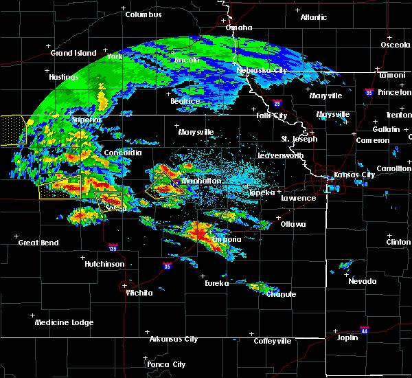 Radar Image for Severe Thunderstorms near Abilene, KS at 5/4/2020 7:38 AM CDT