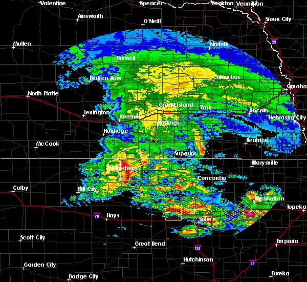 Radar Image for Severe Thunderstorms near Lincoln Center, KS at 5/4/2020 7:46 AM CDT